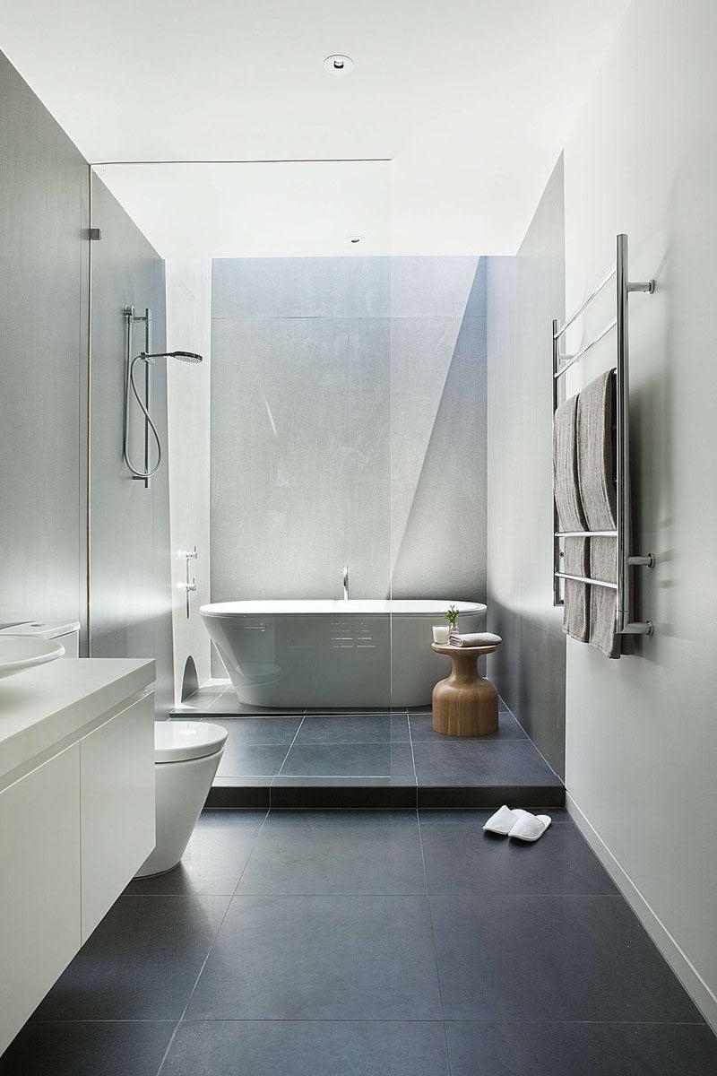 Bathroom Tile Idea - Use Large Tiles On The Floor And ...