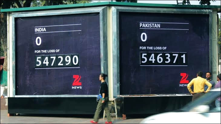 OOH campaign from Zee News