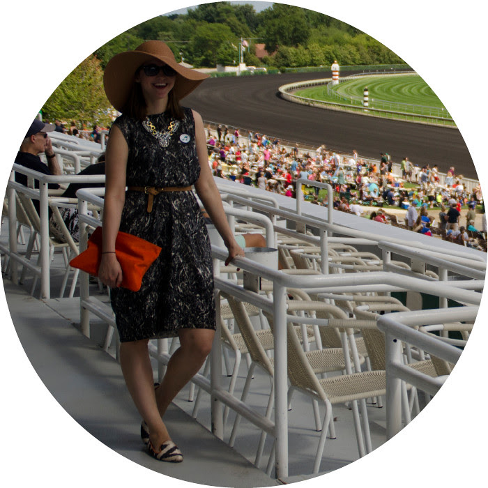 august outfit post, what to wear to a horse race, racetrack outfit, suns out hats out, big floppy hat, cos knit dress, ootd, summer style, dash dot dotty, loafers with a dress, ikat print