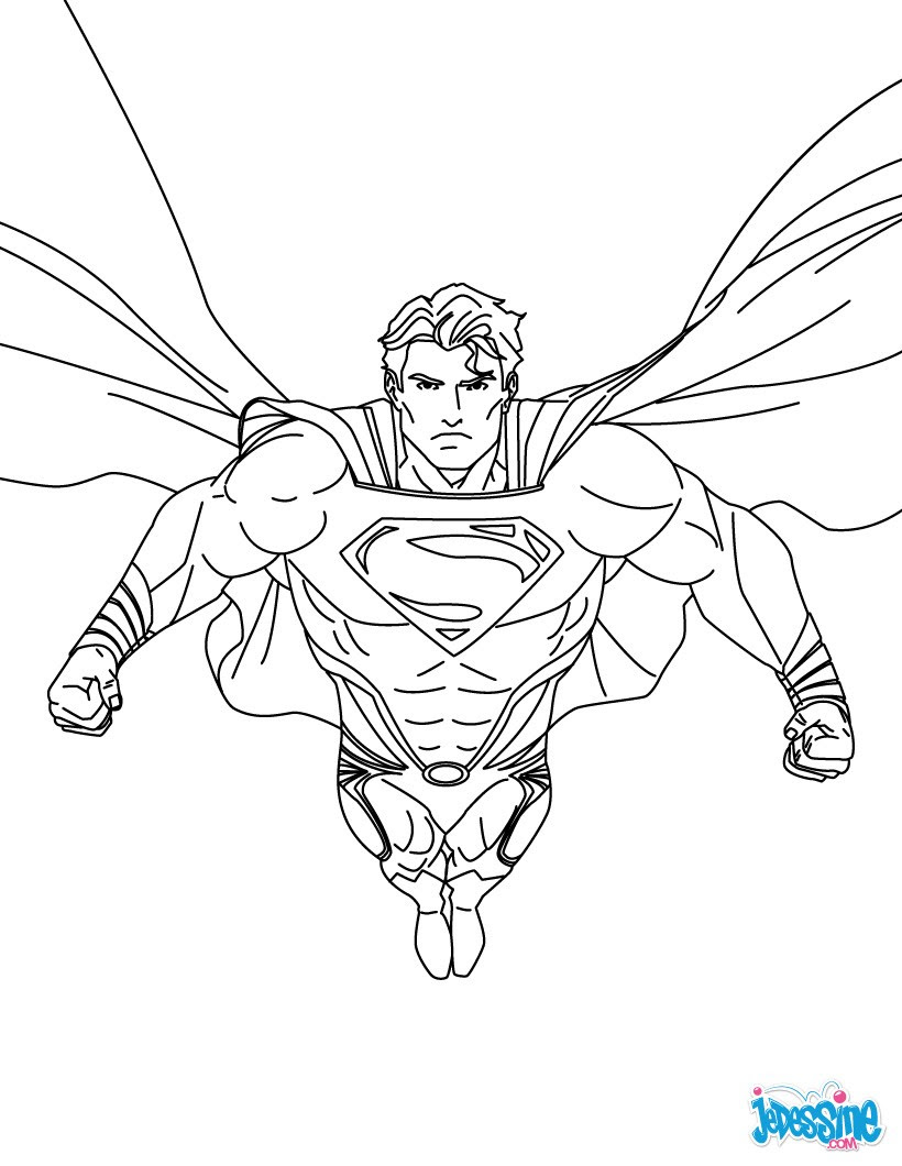 Coloriage Superman Coloriages Coloriage à Imprimer Gratuit Fr