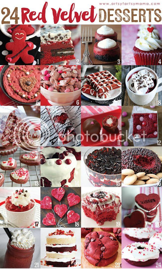 24 Red Velvet Dessert Recipes at artsyfartsymama.com