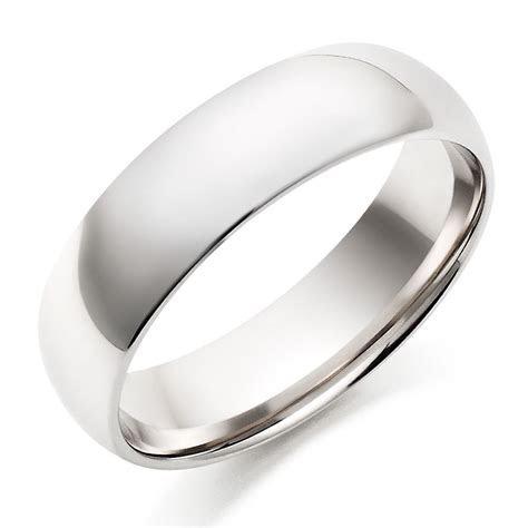White Gold Men's Wedding Rings   Mens White Gold Wedding