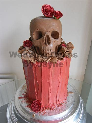 Quality,Bespoke and Affordable.   Skull wedding cakes