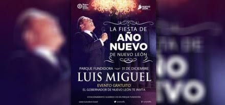 El concierto de Luis Miguel organizado por el gobierno de Nuevo León. Foto: Especial