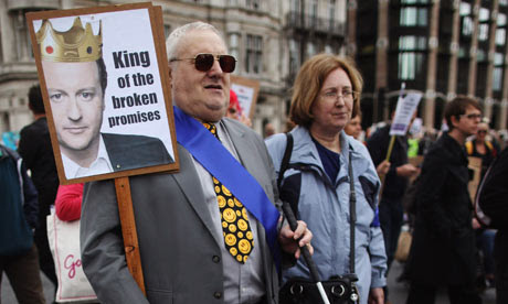 Hardest Hit protest against government cuts to disability benefits