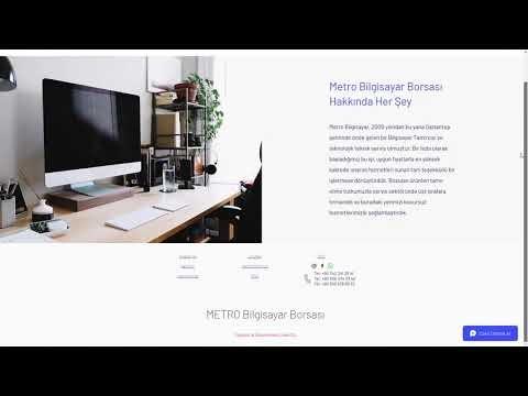 Code-st Kurumsal Gelişmiş Web Site - Metro Bilgisayar Borsası ve Gaziantep Teknik Servis