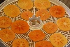 Dehydrating fuyu persimmons