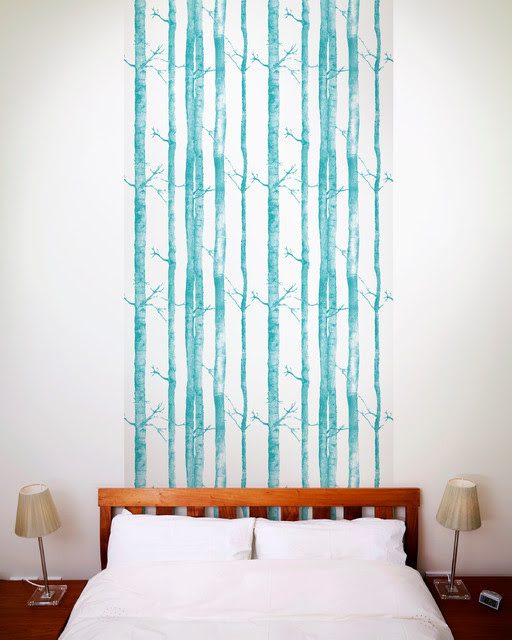 Aspen Tree Wallpaper Tiles - Modern - Wall Decals - los ...