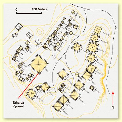 The pyramid field of Nuri plan layout