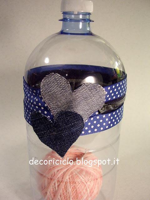 porta-gomitolo con bottiglia di plastica 3