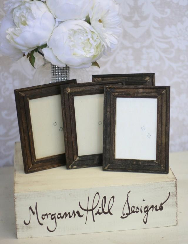 Rustic Wedding Frames Table Number Signs Set Of 12 Item P10418