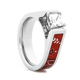 Women's Cobalt Bandana Diamond Ring   Titanium Buzz
