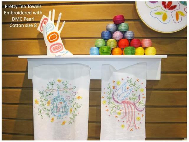 Pearl Cotton Display tea towels