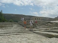 ancient amphitheatre at knossos - spectators stood, not sat