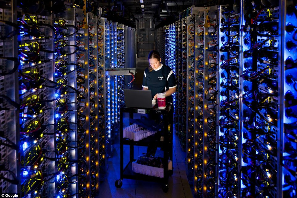 Denise Harwood, a Google Engineer, diagnoses an overheated CPU. For more than a decade, Google has built some of the world's most efficient servers.