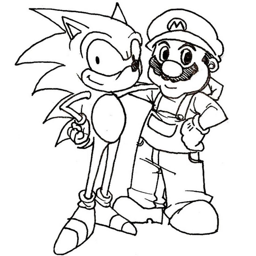 Bovenste Deel Kleurplaat Mario
