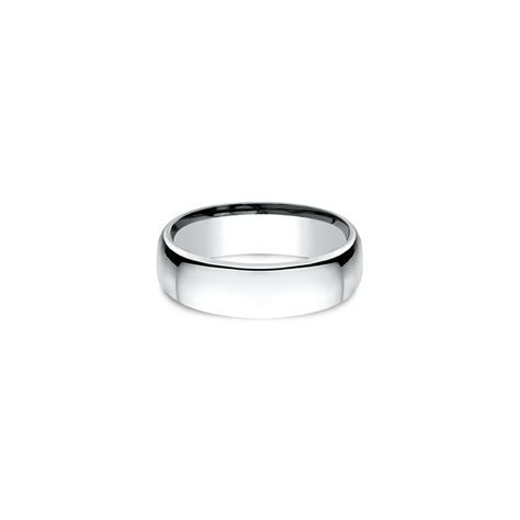 Platinum European Comfort Fit Wedding Band (6.5mm
