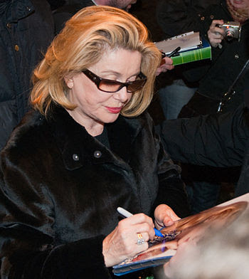 French actress Catherine Deneuve arriving at t...