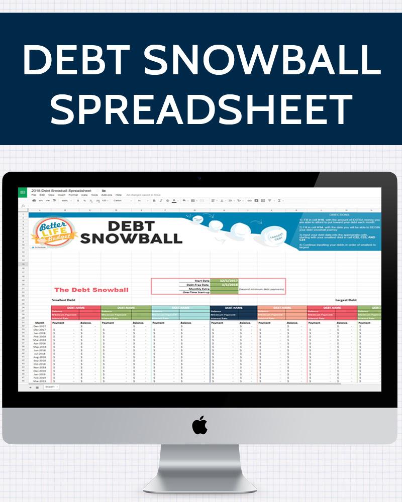 Debt Snowball Spreadsheet » One Beautiful Home