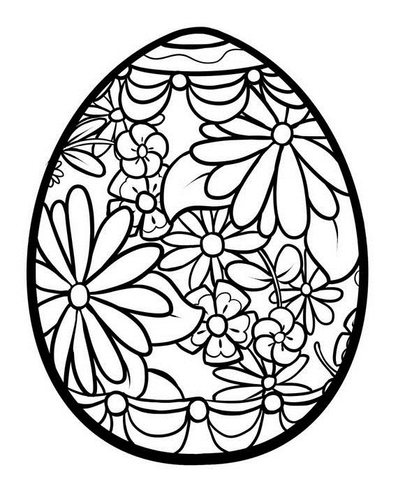 Unique Spring & Easter Holiday Adult Coloring Pages ...