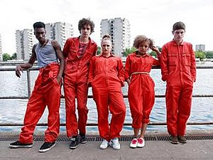 The main characters of Misfits, left to right:...