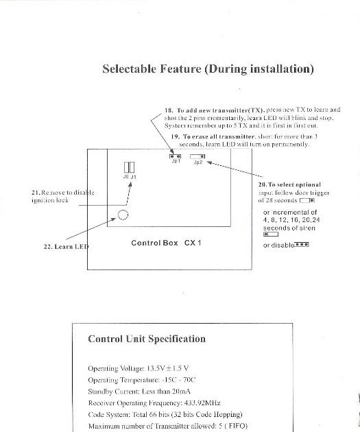 Central Lock System Wiring Diagram
