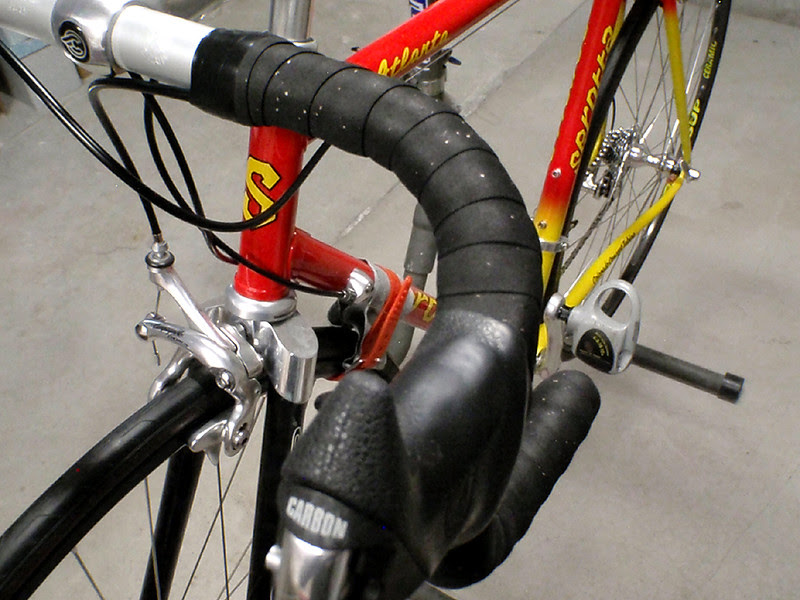 No more handling the bike with greasy hands, time for some fresh bar tape.