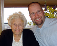 Florence Melton and Rabbi Jason Miller
