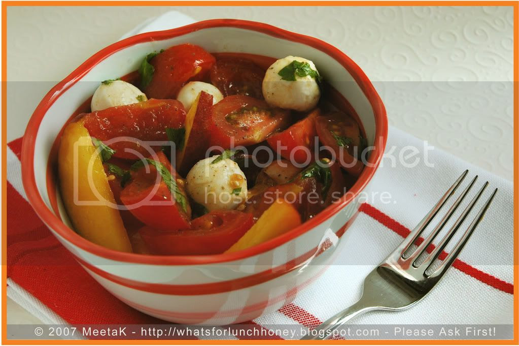 Tomato Peach Salad (01) by MeetaK
