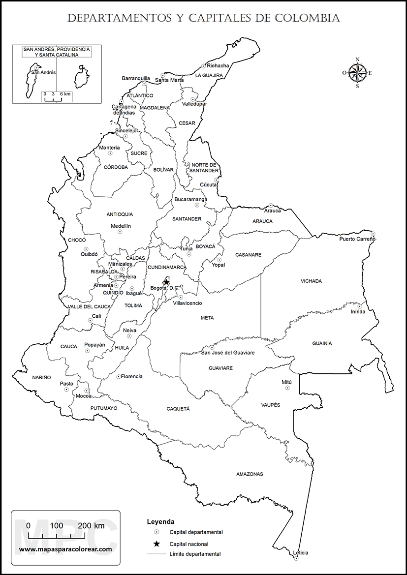 Image Result For Map Of Colombia