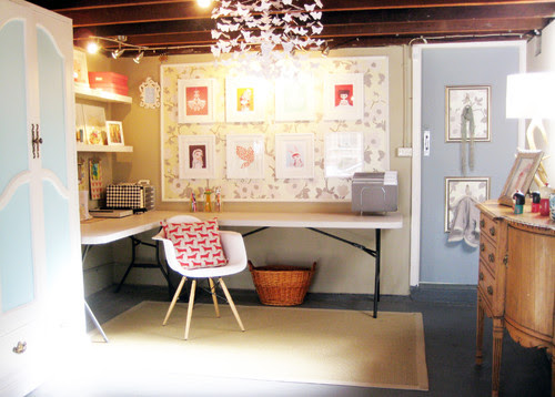 Ish & Chi: The studio eclectic home office