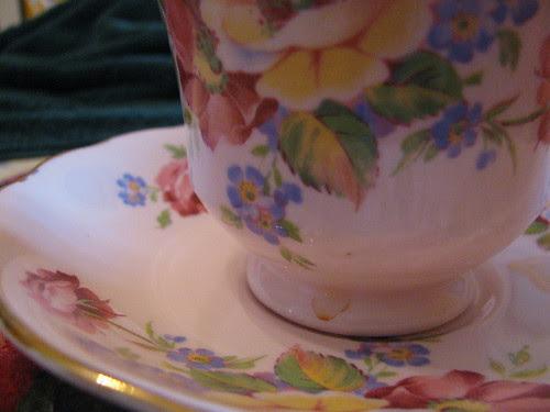 pink tea cup