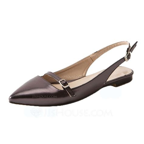 womens leatherette flat heel flats slingbacks shoes