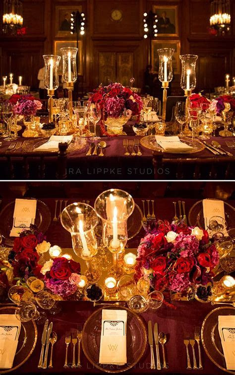 Burgundy And Gold Wedding Ideas