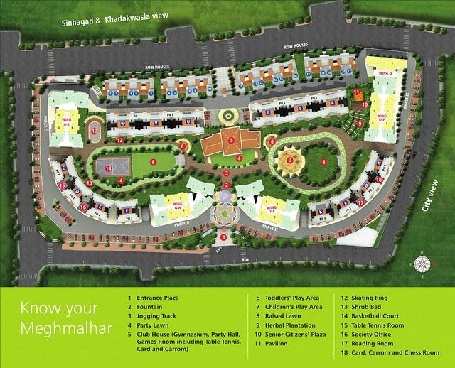 Layout Plan of DSK Meghmalhar Phase 2, 1 BHK & 2 BHK Flats at DSK Vishwa, Dhayari Gram Panchayat, off Sinhagad Road, Pune 411 041