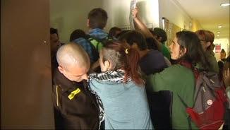 Els estudiants protesten contra la presència policial a la UdL