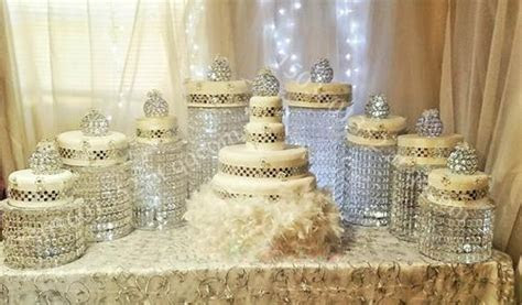 Sparkling Crystal Clear Garland Chandelier Wedding Cake