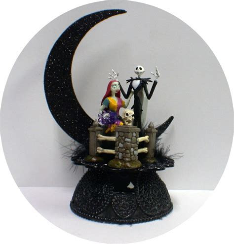 Jack & Sally F Nightmare before Christmas Wedding Cake