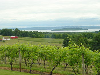 View of Grand Traverse Bay from Old Mission Pe...