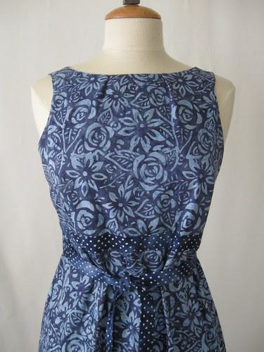 Batik dress front close up