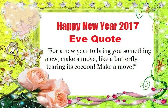 Happy New Years Eve Quotes 2017
