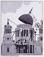 Stout members of the sixth column dislodge an enemy machine gun post on the dome of St Paul's