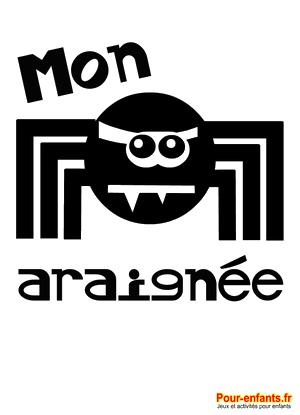 Dessin d'araignée à imprimer