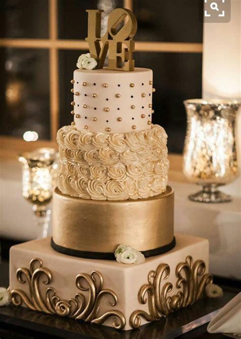 Pastel dorado boda   BODAS Y MAS in 2019   Wedding cakes