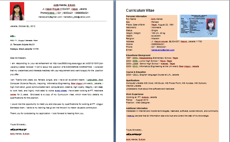Contoh Cover Letter Motivation Letter - 89+ Cover Letter ...