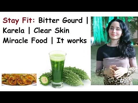 Skin Care - E001: Bitter Gourd | Karela | Clear Skin Miracle Food | bitter gourd for skin whitening
