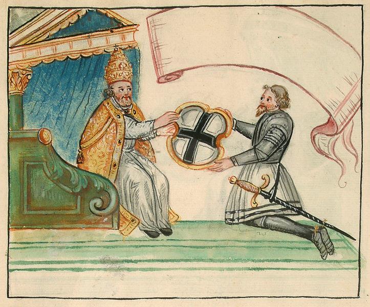File:Privilegienverleihung Deutscher Orden Zeichnung 18Jh 01.jpg