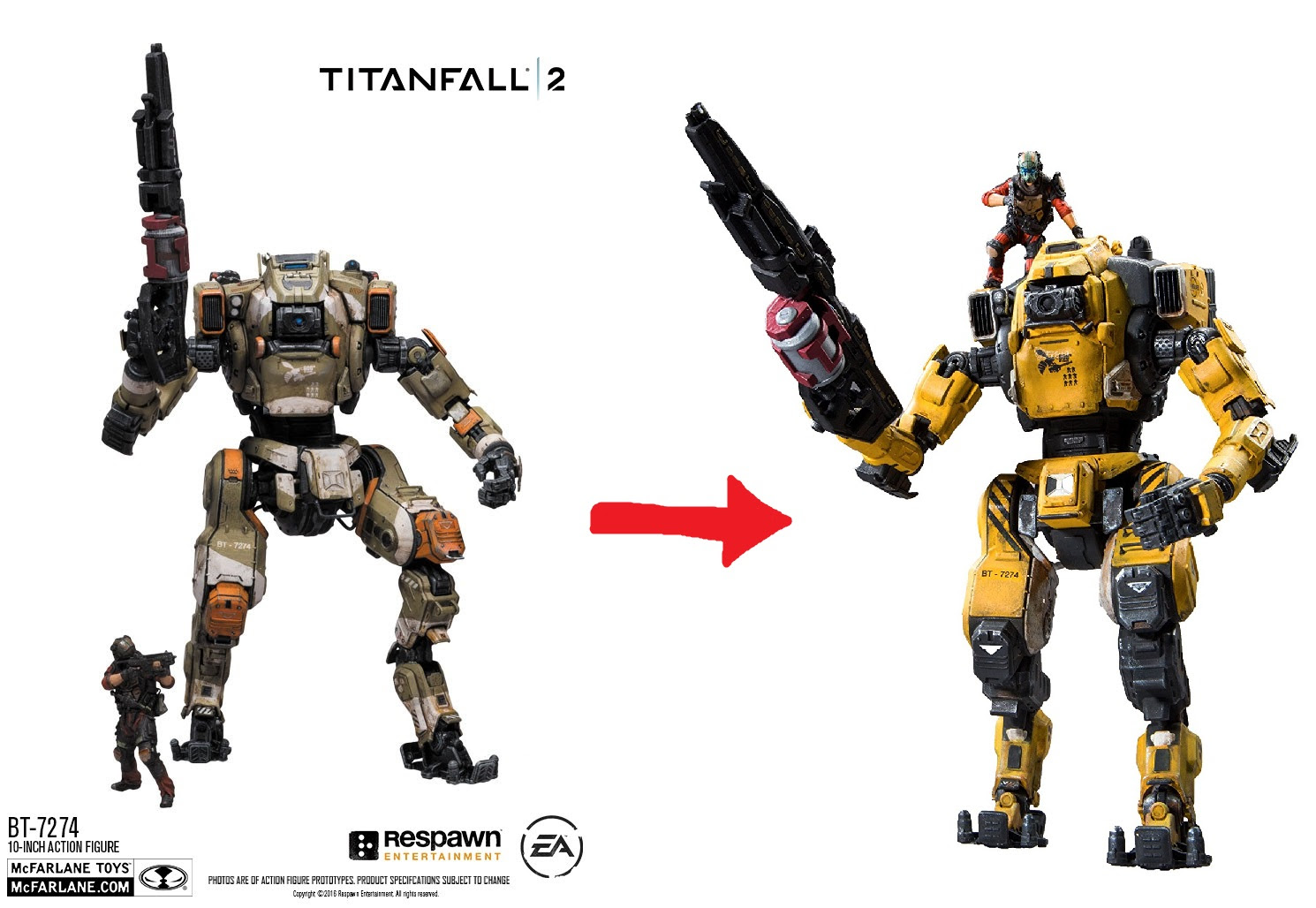 BT-7274 figure by McFarlane changed.. a lot. : titanfall