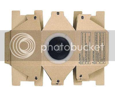 Muji Cardboard MP3 Player Speakers 1