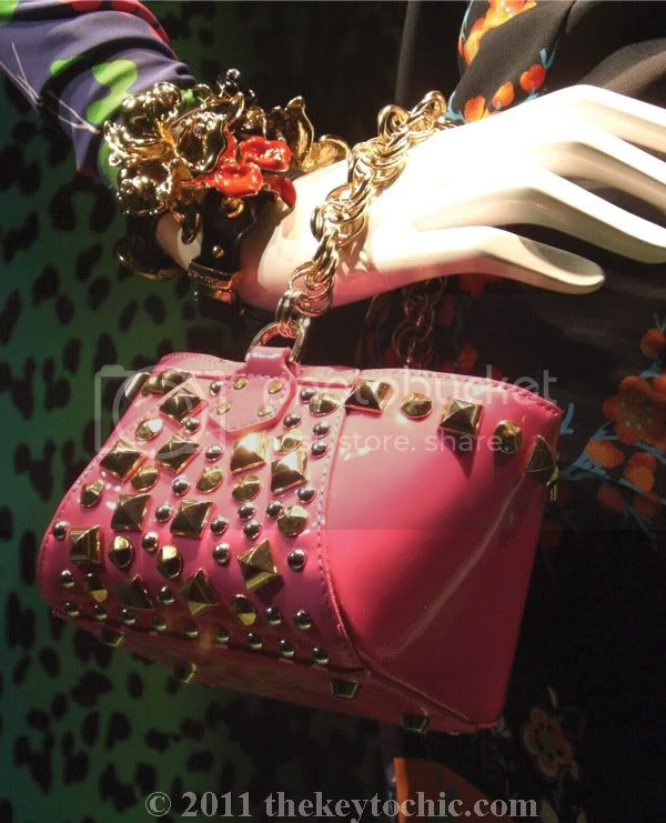 Versace for H&M studded pink handbag